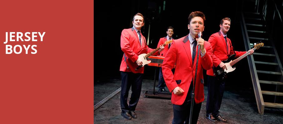 Jersey Boys, Lyell B Clay Concert Theatre, Morgantown